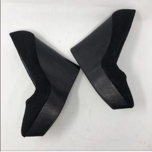Theyskens' Theory Black Canapa Wedge Pump 40 9